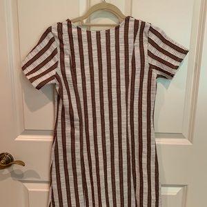 Zara Dresses - NEVER WORN ZARA dress with stripes and buttons